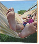 Summertime And The Livin' Is Easy Wood Print by Laura Fasulo