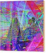 Summertime At Santa Cruz Beach Boardwalk 5d23930 Square Wood Print