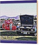 Summertime Class Car Show Wood Print