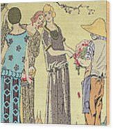 Summertime Dress Designs By Paul Poiret Wood Print by French School