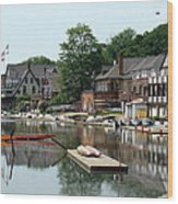 Summertime On Boathouse Row Wood Print