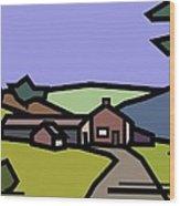 Summertime On Joe's Farm Wood Print by Kenneth North