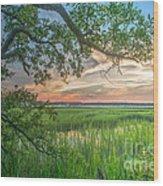 Summertime Sunset Wood Print