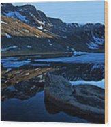 Summit Lake Calm Wood Print