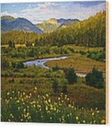Summit Peak Wood Print
