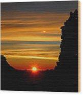 Summit Sunrise Wood Print