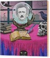 Summoning Edgar Allan Poe Wood Print