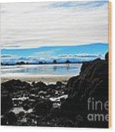 Sumner Beach Wood Print