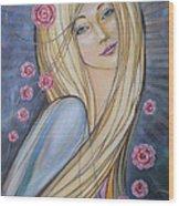 Sun And Roses 081008 Wood Print