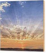 Sun Beams Wood Print