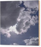 Sun Behind The Clouds Wood Print
