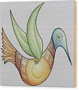 Sun Bird Wood Print