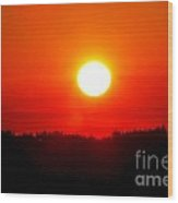 Sun Blast Over Whidbey Island Washington State Wood Print