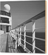 Sun Deck Shadows Wood Print