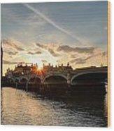 Sun Down London Wood Print