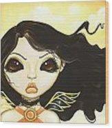 Sun Fae Wood Print by Elaina  Wagner