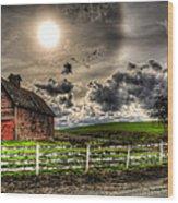 Sun Gazing Upon An Old Barn Wood Print