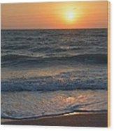Sun Glistening On The Water Wood Print