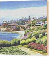 Sun Gold Point La Jolla Wood Print by Mary Helmreich