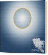 Sun Halo Wood Print by Atiketta Sangasaeng
