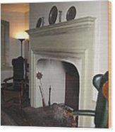 Sun Inn Fireplace Wood Print