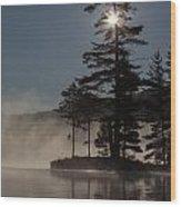 Sun Is Up At The Lake Wood Print