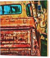 Sun Kissed Truck Wood Print