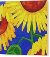 Sun Lovers Wood Print