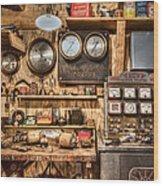 Sun Motor Tester Wood Print by Debra and Dave Vanderlaan