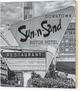 Sun-n-sand Motor Hotel II Wood Print