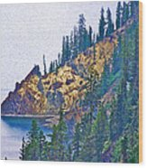 Sun Notch On A Rainy Day At Crater Lake National Park-oregon Wood Print