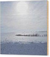 Sun On Snow Wood Print