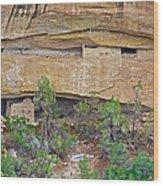 Sun Point Pueblo View-12-1300 Ad  On Chapin Mesa Top Loop Road In Mesa Verde National Park-colorado  Wood Print