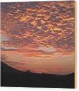 Sun Rise Colors Wood Print by Kiara Reynolds