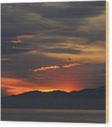 Sun Rise Otter Point Pacific Grove Ca Wood Print