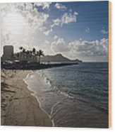 Sun Sand And Waves - Waikiki Honolulu Hawaii Wood Print