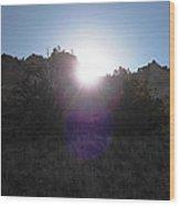 Sun Sets At Tent Rocks Wood Print
