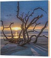Sun Shadows Wood Print