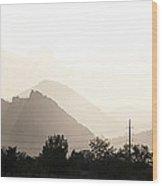 Sun Soaked Flatirons Wood Print