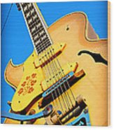 Sun Studio Guitar Wood Print