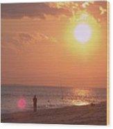 Sun Surf And Sea Wood Print