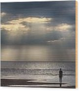 Sun Through The Clouds 1 Wood Print