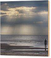 Sun Through The Clouds 2 Wood Print