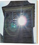 Sun Through The Steeple-by Cathy Anderson Wood Print