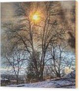 Sun Thru Smoke Wood Print