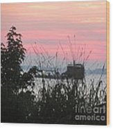 Sun To Rise On The Chesapeake Bay Wood Print