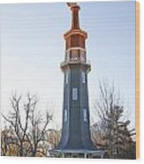 Sun Topped Dwight Windmill Wood Print