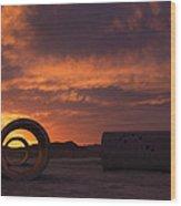 Sun Tunnel Sunset Wood Print