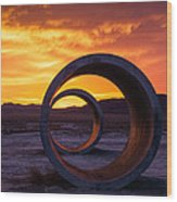 Sun Tunnels Wood Print by Peter Irwindale