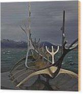 Sun Voyager Reykjavik Wood Print